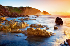 Golden Rocks Mullaway Beach (Adam Bolt Photography) Tags: sea seascape adam beach sunrise landscape photography movement rocks harbour wave australia nsw bolt colourful northern coffs mullaway bestofaustralia