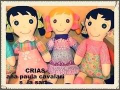 meninas lindas da CriAS (AP.CAVALARI / ANA PAULA) Tags: toy dolls handmade fabric boneca tecido feitoamo fabricdolls bonecadetecido anapaulacavalari apcavalari