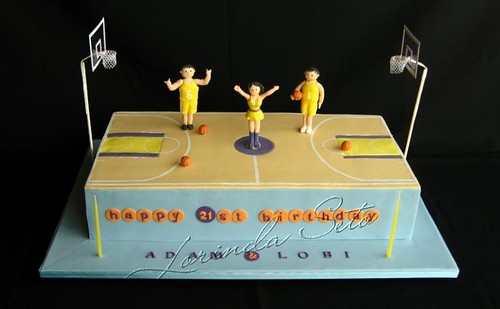 Basketball Court 21st Birthday Cake