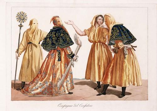 023 Costumi e descrizione delle processioni conosciute in Genova sotto il nome di casacce ricavati da quella di San Giacomo il maggiore delle focine 1828