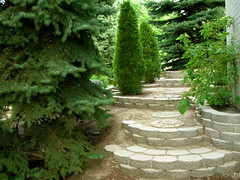 Staircase (boisebluebird) Tags: flowers summer plants garden landscape design terrace boise patio staircase block garening michaeltoolson boisebluebirdcom httpwwwboisebluebirdcom boiselandscaping boisegardener