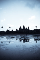 Angkor dream (marin.tomic) Tags: travel blue reflection water silhouette asian temple ancient nikon asia cambodge cambodia kambodscha southeastasia angkorwat palm explore tropical siemreap angkor d40