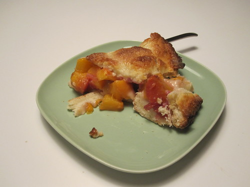 Peach pie, made from scratch - from groceries