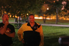 Police at the Fireshow II (stormdog42) Tags: park chicago night illinois police youcanttakepictureshere fullmoonfireanddrumjam