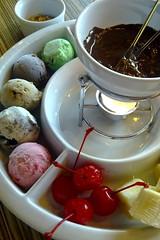 Chocolate and Ice-cream Fondue