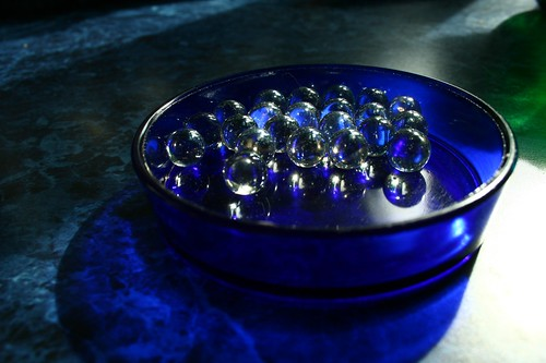 little blue dish