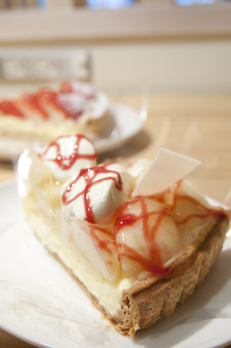 ピーチとチーズケーキのタルト, Fruitscake Factory, Sapporo