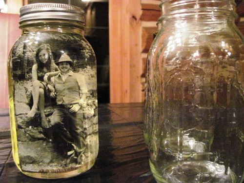 mason jars and pictures