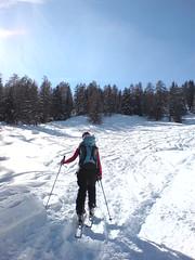 die Anführerin (lieblingsfabe) Tags: skitour graubünden stierva