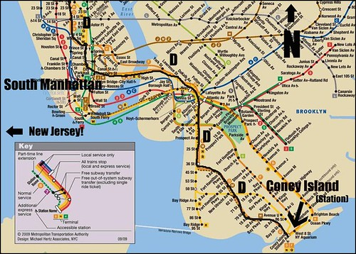Subway Map To Coney Island.End Of The Line Coney Island Subway Station W Map Flickr