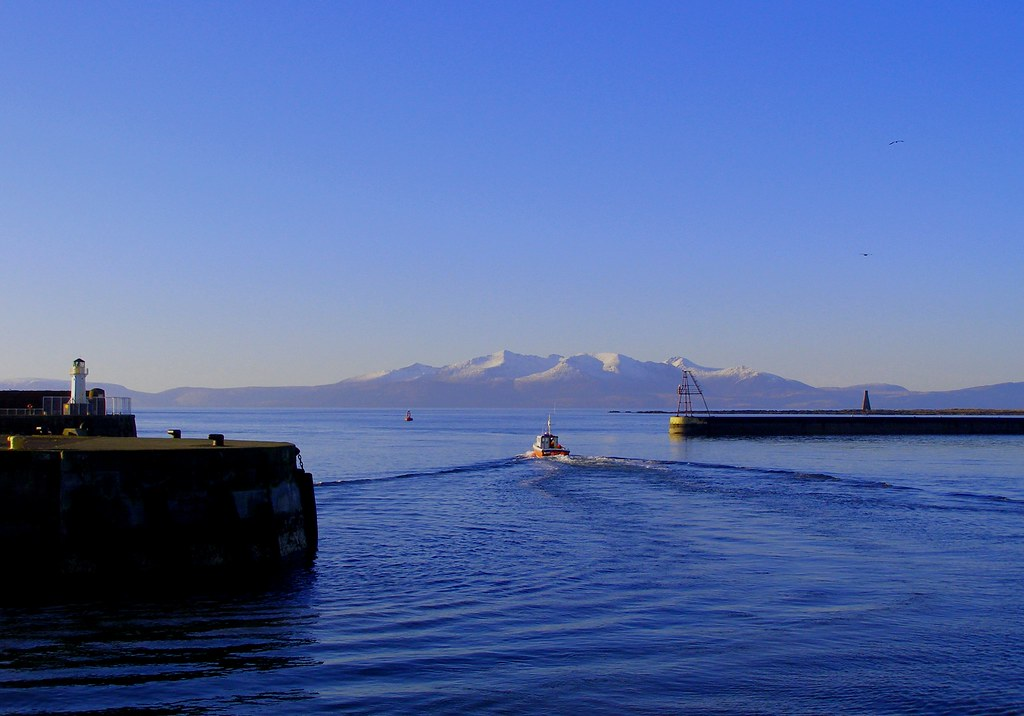 Arran From Ardrossan Harbour