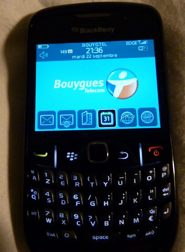 Déballage Blackberry Curve 8520