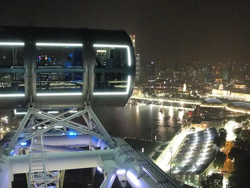View of Marina Bay Circuit from the top!