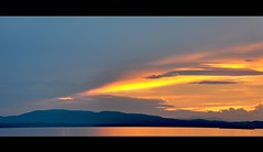 Magic In the Air (Lanamaniac) Tags: sunset summer sky sun lake mountains nature water clouds photography photo nikon vermont natural nikkor 2009