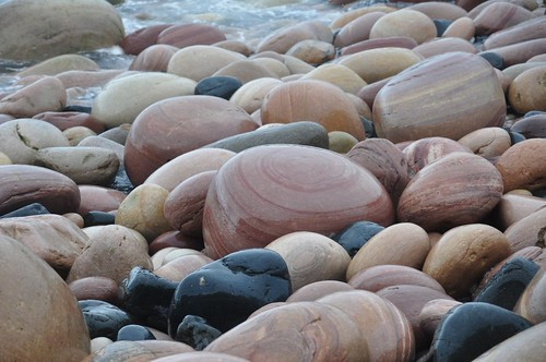 Rackwick bay boulders