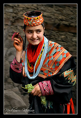Kalasha. (people with black robe). (Nadeem Khawar.) Tags: kalash kafir chitral kafiristan pakistaniphotographer nadeemkhawar cultureofpakistan nortpakistan peoplesofpakistan bamborit traditionsofpakistandressesofpakistan gettyimagesmiddleeast