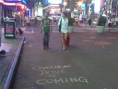 Crackhead Jesus Times Square New York City, New York (maverick artist) Tags: new york square jesus jr victor times hugo vaca crackhead