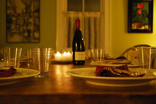 on thurday nights, we usually need a few extra place settings.