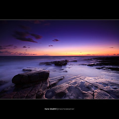 The Colour and the Shape ([ Kane ]) Tags: ocean morning light sea sky texture beach water stone clouds flow dawn rocks glow australia qld queensland kane tones sunshinecoast caloundra gledhill 50d kanegledhill pointarkwright wwwhumanhabitscomau kanegledhillphotography