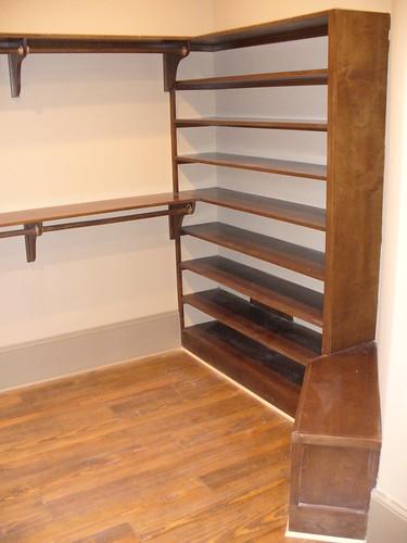 Custom Closet Shoe Rack And Bench Seat