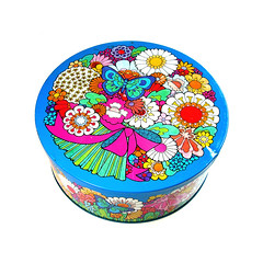 1970s Ivan Ripley butterfly tin (Wooden donkey) Tags: vintage 1960s 1970s flowerpower
