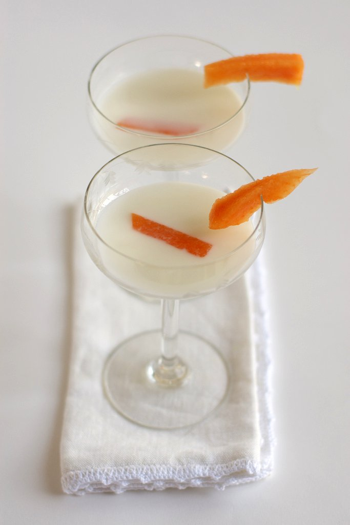 Soupe coco fleur d'oranger et melon