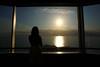 窓辺の夕景