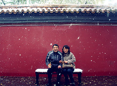 my friends, my parents (ShanLuPhoto) Tags: china family snow home mom parents dad chinese beijing 北京 中国 jingshanpark redwall 景山 loolooimage