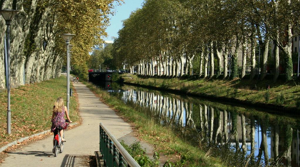 Balade en vélo le long du canal du Midi
