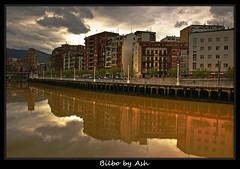 Postcards from Euskadi Bilbao Muelle de Ripa (Asi75er) Tags: city travel rain clouds photoshop canon eos lluvia bilbao elements nubes bizkaia basque euskalherria euskadi vizcaya bilbo basquecountry paisvasco photoshopelements sirimiri 400d canoneos400d