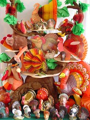 A Rafter of Turkeys (raining rita) Tags: 2004 vintage pepper candles planters group salt treehouse childrens turkeys honeycomb shakers inc hallmark gobblegobble rafter the gurley beistle earthsong