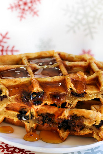 christmas pudding waffles 6213 R