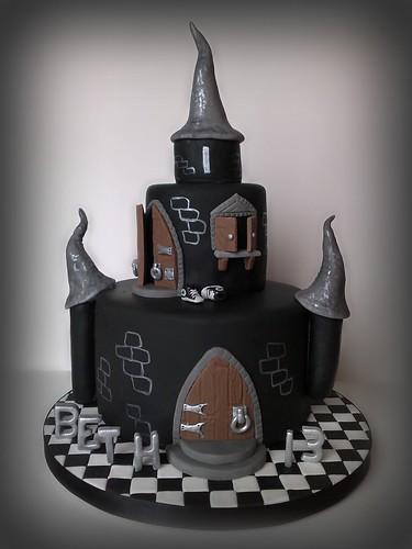 Beth's Black Castle Cake