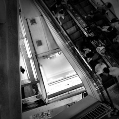 P8 #iphoneography (thepetevisual) Tags: cameraphone blackandwhite square thailand bangkok escalator iphone iphone4 iphonegraphy mostly365 iphoneography petevisual thepetevisual