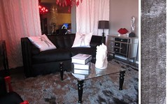 "4149 SILVER SHAG ULTRA PLUSH AREA RUG + 4150 BLACK COFFEE TABLE • <a style=""font-size:0.8em;"" href=""http://www.flickr.com/photos/43749930@N04/5744326172/"" target=""_blank"">View on Flickr</a>"