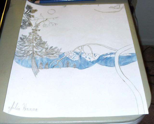 Forest Sunset Sketch: Part 3