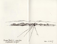 On County Road 27 (calliartist) Tags: countyroads countryroads yolocounty sacramentovalley california sketches penandink quicksketches