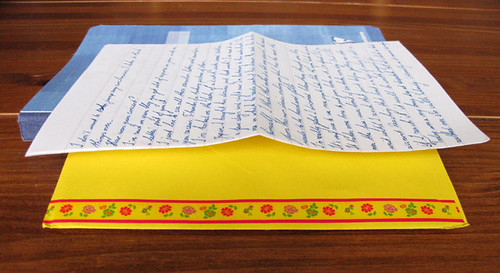 Yellow envelope with deco tape