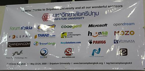 Barcamp Bangkok 3 Sponsors
