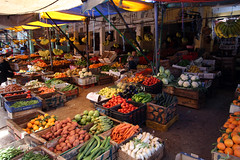 Fruit And Vegetable Market (MykReeve) Tags: people vegetables fruit market box morocco carrot boxes carrots moulayidriss المملكةالمغربية المغرب مولايإدريس geo:lat=34056508 geo:lon=5523087