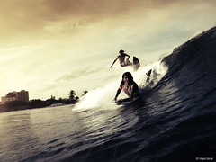 Dream Team (Hani Amir) Tags: ocean city orange male water surf shadows board wave dude amir surfboard boogie surfers desaturated maldives crush kuda hani reefbreak muted mal fuku ayya g10 raalhugandu kudaayya