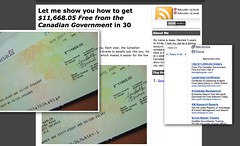 Scam (mezzoblue) Tags: fake canadian government scam abuse adwords cheque scammer illegitimate adwordsbroken adwordsabuse