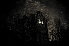 Annedal in March (gothicburg) Tags: trees sun building brick dark sweden gothenburg spooky dayfornight annedal