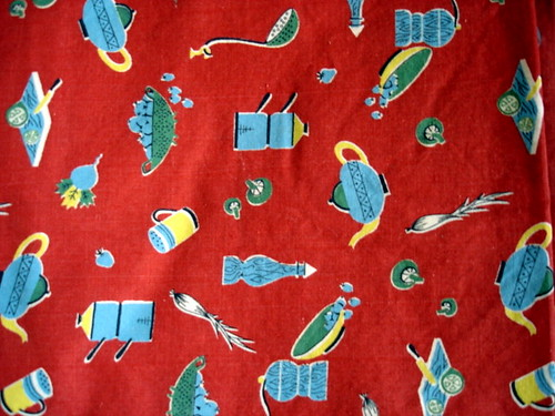 vintage cooking fabric
