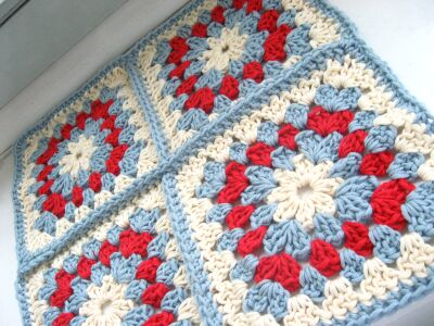 Crocheted doll blanket