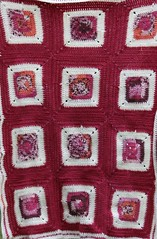 Rose baby blanket