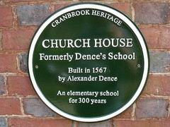 Photo of Alexander Dence green plaque