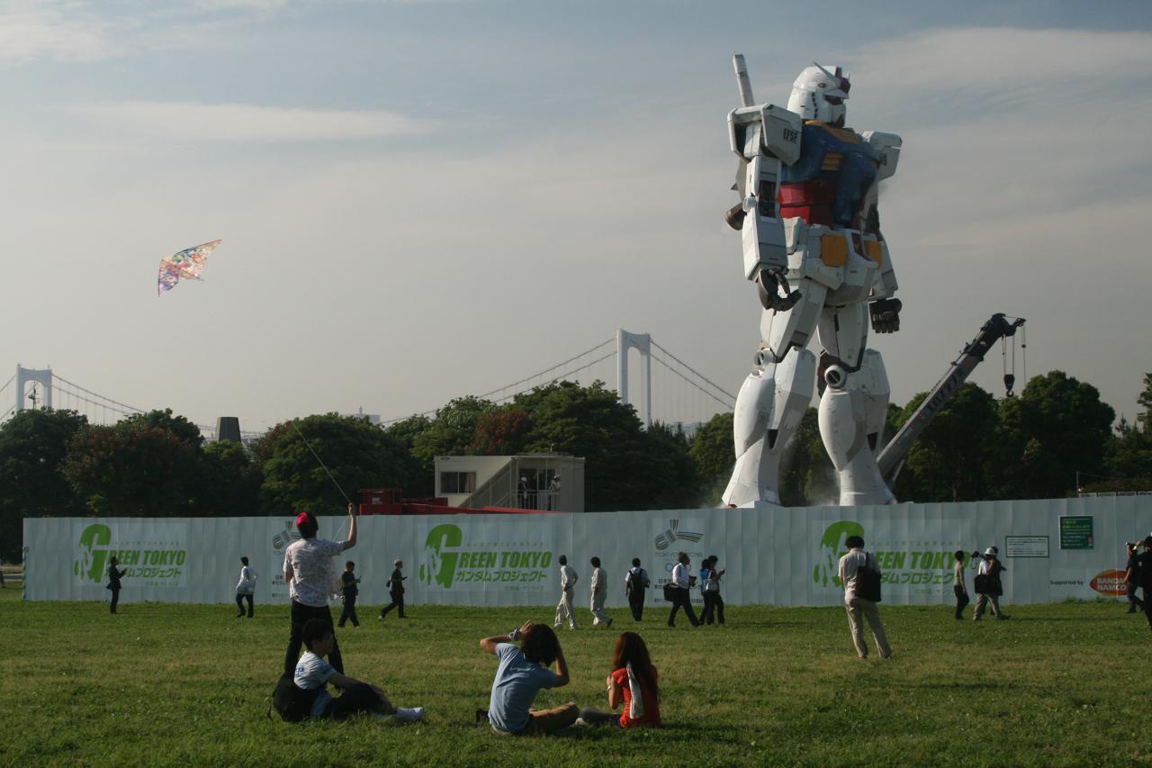 Gundam construcción tamaño real Tokio