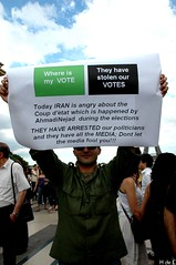 Where is my Vote ? ~     (h de c) Tags: paris france hope democracy support iran eiffeltower protest anger toureiffel iranian dictator elections trocadero manif manifestation dictateur   soutien  ahmedinejad  rassemblement   moussavi  iranien islamicrepublicofiran   dmocracie     whereismyvote