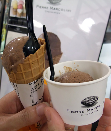 Pierre Marcolini ice cream - small scoop
